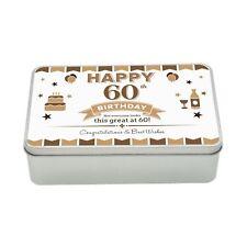 60th Birthday Keepsake Novelty Funny Tin Gift Box Present Idea For Men Him Male