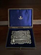 American Coin Silver Calling Card Case & Presentation Box C. 1842 Trinity Church