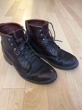 "Chippewa J Crew Cordovan Leather 6"" Service Boots Handmade US Mens 8 D Vibram"