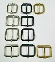 1 1/2 3/4 Plain Belt Buckle Nickel Plated Black Brass 10 50 pcs High Quality Lot
