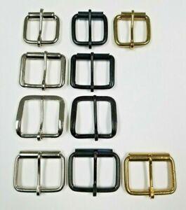"1-1/4"" 1-1/2"" 1-3/4"" Plain Belt Buckle Nickel Plated Black Brass Quality lot"