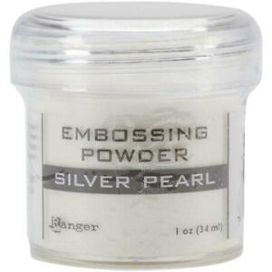 Ranger Embossing Powder 1oz Jar-Silver Pearl