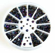 300Pcs 3D Rhinestones Glitter Diamond Gems Tips DIY Nail Art Decoration Wheel