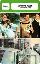 FICHE CINEMA :  CLAUDINE AUGER 1967-1983 -  France (Biographie/Filmographie)
