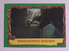 Indiana Jones Raiders Of The Lost Ark Topps 1981 Card 50 Treacherous Descent