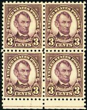 584, Mint VF/XF NH/LH 3¢ Block of 4 Stamps CV $175.00 - Stuart Katz