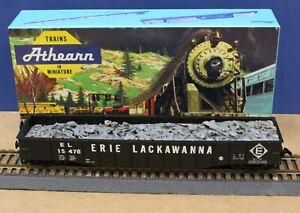 Athearn 1645 HO Erie Lackawanna 50' Gondola w Resin Scrap Load Built Boxed