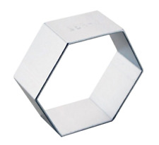 Hexagon Shaped Cookie Cutter Metal Alloy Biscuit Pastry Cake Baking Jelly Mould