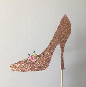 Glitter High Heeled Shoe Cake Topper