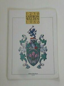SAFFRON WALDEN 1236-1986 OFFICIAL BROCHURE