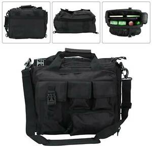 Mens laptop bags Tactical Briefcase Computer Shoulder Handbags Messenger Bag UK