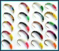 TROUT Fishing Flies Epoxy Buzzers BARBLESS or Barbed Hooks sizes 10 12 14  S106