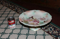 Vintage Schumann Arzberg Footed Cake Plate Stand Bavaria Painted Flowers Lovely