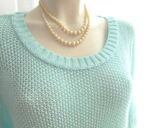 pull turquoise IN EXTENSO taille 50 NEUF maille ajourée MC