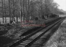 PHOTO  RIFLE RANGE HALT RAILWAY STATION VIEW OF THE SMALL STATION BETWEEN BURTON