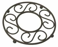 New! Home Basics Bronze Scroll Collection Steel Trivet for Hot Pots & Pans