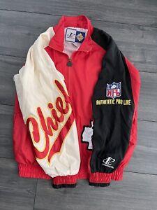 Vintage Kansas City Chiefs  Logo Athletic Classic Team NFL Windbreaker Jacket Xl