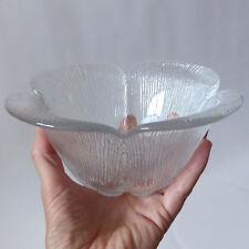Holmegaard Garni bowl. Vintage 1980s crystal glass dish. Sidse Werner 1985 retro