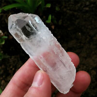 55g Etched Himalaya Nirvana Quartz Natural Luster Clear Interference Quartz RARE