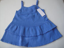 Gymboree NWT GREEK ISLE STYLE Sweater Dress Tier Knit Sun Tank Blue Ruffle 2 2T