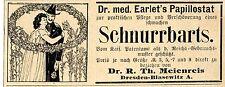 El Dr. med. earlet's papillostat bigote-verschön. publicitarias histórica de 1899