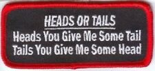 HEADS OR TAILS EMBROIDERED PATCH
