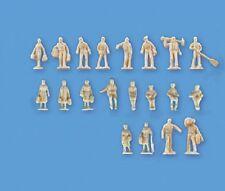 Modelscene 5157 Unpainted Figures Set B (20) 'N' Gauge = 1/148th Scale -1st Post