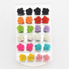 Chic Wholesale Lots 120pairs Resin Flower Jewellery Mixed Stud Earrings 61713