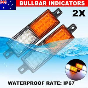 Pair LED Bullbar Indicator Tail Lights Front Park DRL Light For ARB TJM Lamp