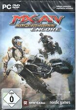 Pc MX vs. ATV supercross encore moto cross jeu DVD expédition article neuf