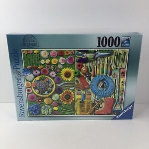 Ravensburger 1000 Piece Puzzle In The Garden Do It Yourself Flowers New B