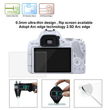 LCD Screen Guard Clear Tempered Glass Protector For Canon EOS 200D DSLR Camera