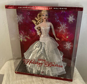Holiday Barbie Doll 2008 Mattel 20 year Anniversary Barbie Collector Rare NRFB