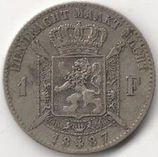 More details for 1887 belgium leopold i silver 1 franc   european coins   pennies2pounds