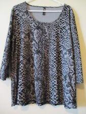 Taking Shape 3/4 Sleeve Geometric Tops & Blouses for Women