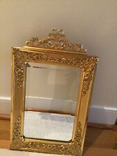Antique French gilt bronze mirror, circa early Xx century