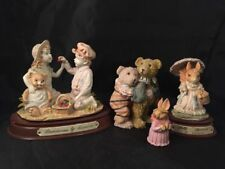 More details for sally squirrel by leonardo strawberries and bear and rabbit ornaments figurines