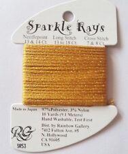 Rainbow Gallery Sparkle Rays SR53 Dark Marigold 10 yard Needlepoint Cross Stitch
