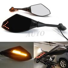 BLACK SMOKE LED TURN SIGNAL MIRRORS FOR Suzuki GSXR 600 GSXR 750 2004 2005 04 05