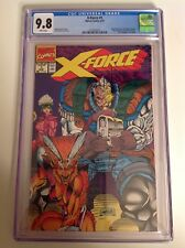 CGC 9.8 X-Force #1 Positive Variant 1991 Deadpool Cable Domino Liefeld art