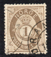 Norway 1 Ore  Stamp c1877-78 Used (879)