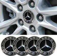 4Pcs 75mm Wheel Center Caps For Mercedes Benz Emblem Logo Wheel Rim Hub Caps