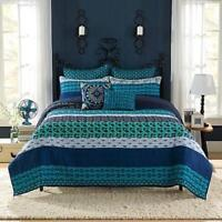 "NEW Anthology Amitra 26"" L x 20"" W Standard Cotton Pillow Sham in Blue"