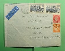 DR WHO 1941 FRANCE AIRMAIL TO CANADA POLAND CONSULATE DIPLOMATIC  f54011