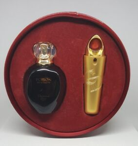Christian DIOR Poison 50ml EDT & 7.5ml Purse Spray Gift Set Vintage 1991 Version
