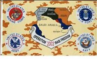 Operation Iraqi Freedom Flag, 3x5, New, Polyester Desert Storm Fade Resistant