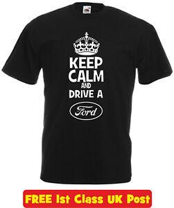 Keep Calm ford focus fiesta rs escort mondeo capri xmas birthday gift t shirt