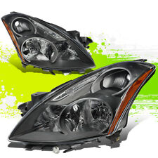 FOR 10-12 NISSAN ALTIMA PAIR FRONT BUMPER DRIVING HEADLIGHT/LAMPS BLACK/AMBER