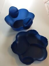Tupperware Chip and Dip 1.5Gall/5.7L Covered Bowl with attachable dip containers