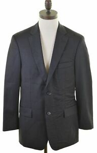 HUGO BOSS Mens 2 Button Blazer Jacket EU 48 Medium Grey Wool  GR04